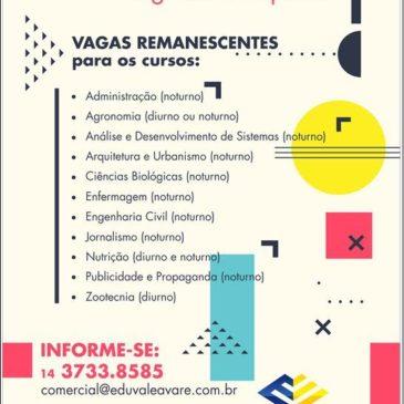 Vestibular Eduvale Segundo Semestre 2018