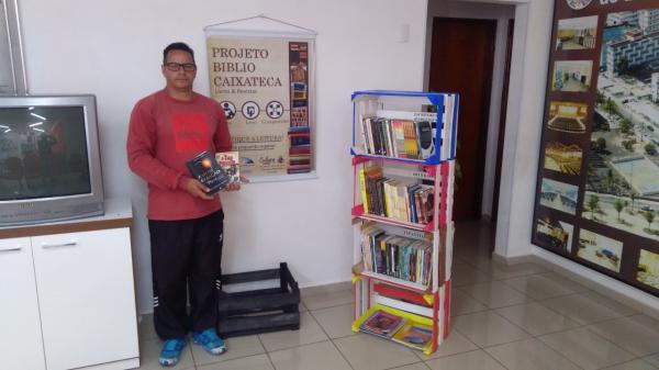 Biblio Caixateca distribui mais de 165 livros no Sincomerciários Avaré