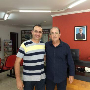 Deputado eleito, Luiz Carlos Motta visita Sincomerciários Avaré