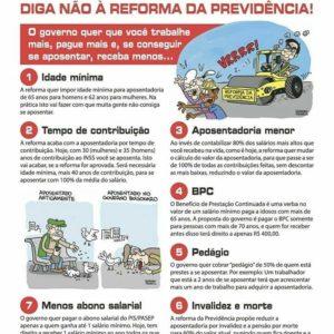 Folheto da UGT está sendo distribuído nas bases para instrumentalizar luta contra a reforma