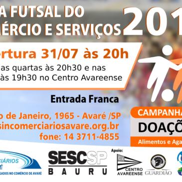 Cartões Copa Futsal do Comércio e Serviços 2019