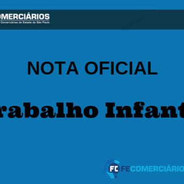 NOTA SOBRE TRABALHO INFANTIL
