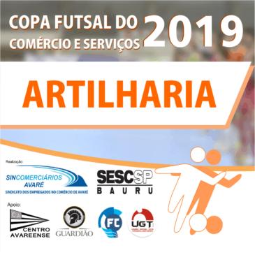 Artilharia Copa Futsal do Comércio e Serviços 2019