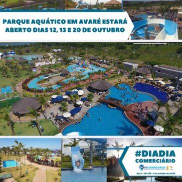Parque Aquático estará aberto nos dias 12, 13 e 20 de outubro