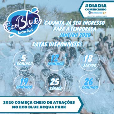 Calendário EcoBlue Acqua Park em Avaré para Janeiro
