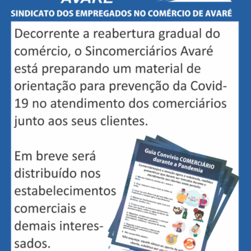 Sincomerciários prepara impresso para prevenção de Comerciários