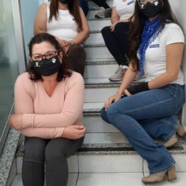 Comerciários agradecem máscaras recebidas do Sincomerciários Avaré